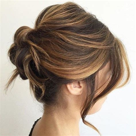 loose buns for chin to shoulder length hair 25 beste idee 235 n over haarknotjes op pinterest