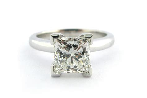 princess cut ring with a rounded band browse