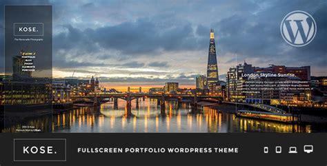 wordpress themes free full width kose fullscreen portfolio wordpress theme by uxbarn