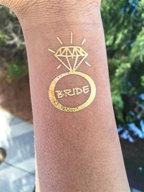 rose gold tattoo tribe flash temporary gold