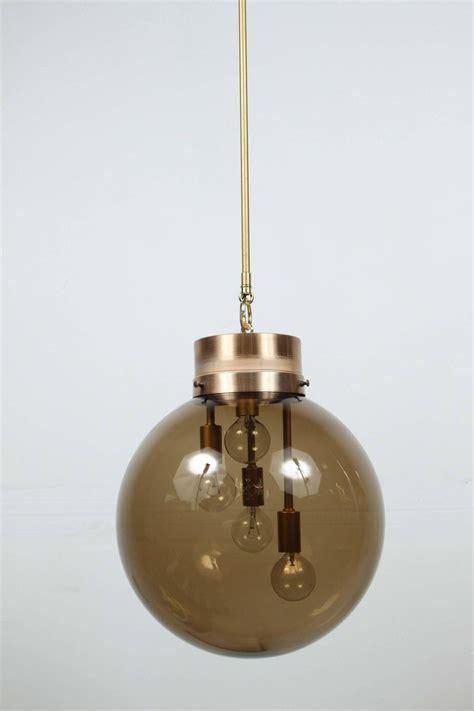 Large Globe Pendant Light Large Smoked Globe Pendant Light At 1stdibs