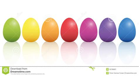 basic color transition for your video royalty free easter eggs basic colors reflection stock vector image