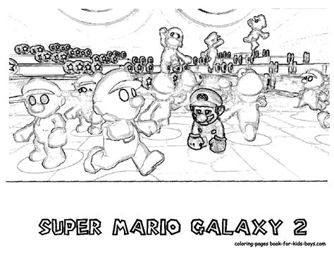 Mario Galaxy 2 Coloring Pages transmissionpress nintendo mario galaxy 2 coloring