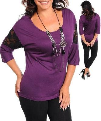 Top Casual 57 new free shipping eggplant and black lace insert sleeve