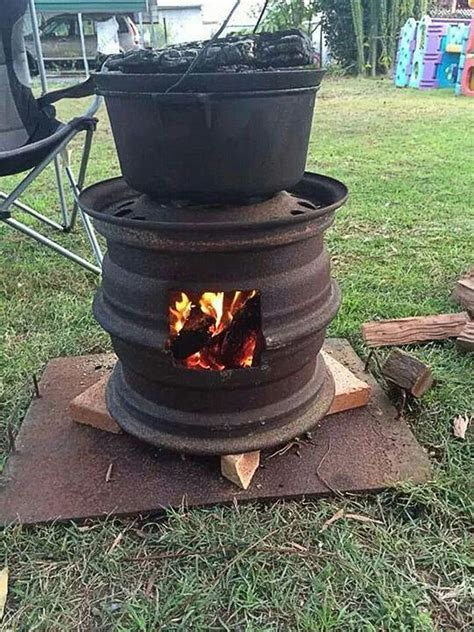 How To Make Recycled Car Wheel Fire Pit Diy Crafts Firepit On Wheels