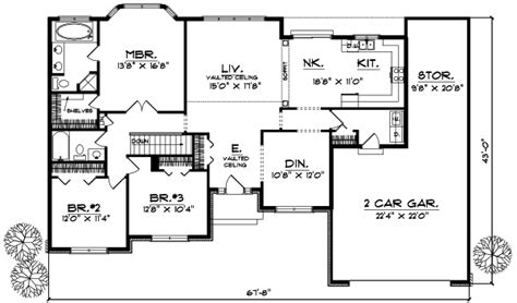 ranch style house plan 3 beds 2 baths 1700 sq ft plan 3 bedroom ranch style floor plans photos and video
