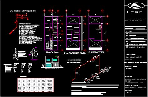 gas instalation housing dwg section  autocad