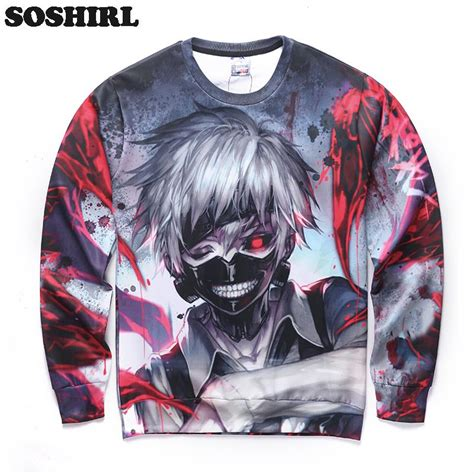 Anime W Stylu Tokyo Ghoul by Anime Tokyo Ghoul Kaneki Ken Unisex Hoodie Fashion Cool