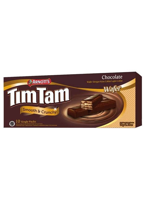 Tim Tam Wafer Chocolate 77 5g arnott s wafer tim tam 10 s chocolate box 77 5g