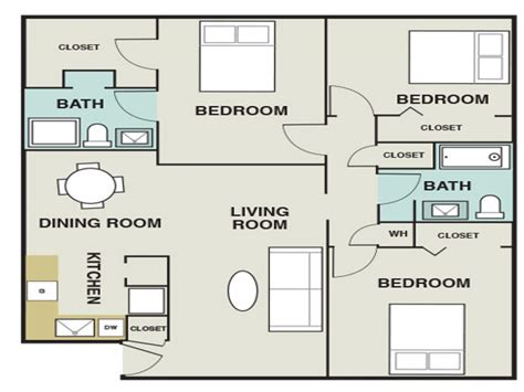 average square footage of a 3 bedroom house 3 bedroom 1200 sq ft house plans 3 bedroom apartments map