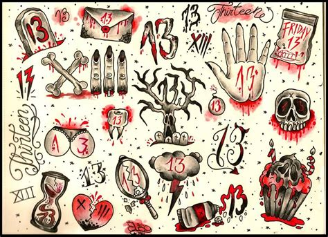number 13 tattoo designs friday the 13th june 2014 transform your for bad