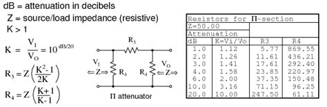 resistor values in attenuators lessons in electric circuits volume iii semiconductors