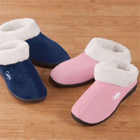 easy comforts easy comforts style memory foam booties memory foam