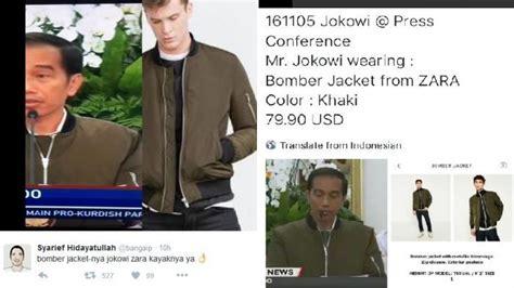 Jaket Anak Lagi Heboh hebohnet wow presiden jokowi ganteng pakai jaket itu