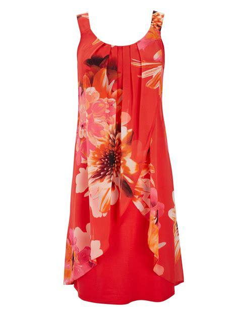 wallis orange print dress in orange lyst