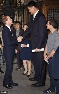 prince william s 7ft 6in yao ming was specially bred
