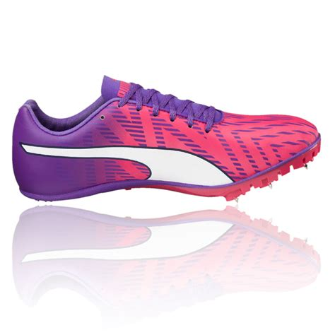 womens track shoes with spikes evospeed sprint 7 womens pink purple running spikes