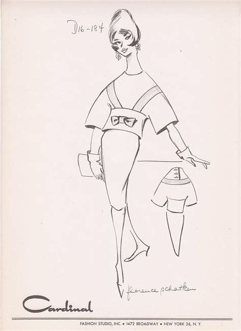 Studio C Sketches Of You by Vintage Fashion Sketch Clothing Print Illustration
