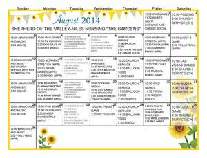 the gallery for gt nursing home activities calendar