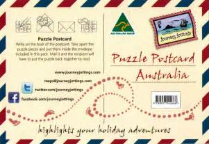 puzzle postcards journey jottings