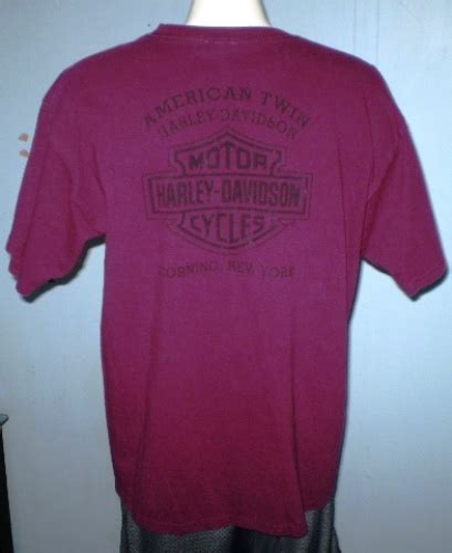 Harley Davidson Corning Ny by Harley Davidson Burgundy T Shirt Xl Corning New York T