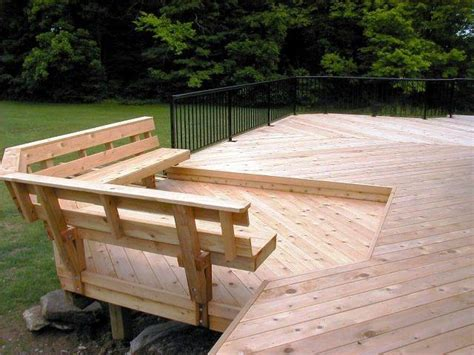 deck with built in bench when is the best time of the year to build my columbus oh