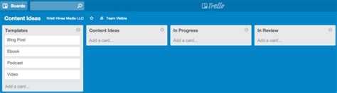 Trello Card Template by How To Create A Content Management Process With Trello
