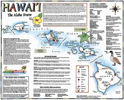 Hawaii Worksheets by Hawaii Map Maps For The Classroom