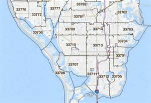 pinellas county florida zip code map st pete zip code map