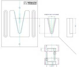 Guitar Routing Templates by V Joint Neck Routing Template 22 176 Rall Guitars Tools