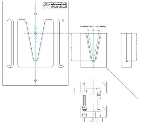 v joint neck routing template 22 176 rall guitars tools