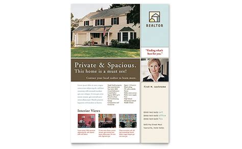 realtor brochure template house for sale real estate flyer template design