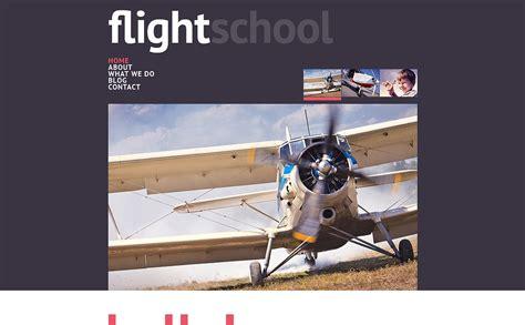 Flight School Responsive Website Template 46725 Flight School Website Template