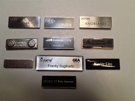 Magnet Papan Nama Dadaname Tag Murah name tag stainless magnetic rudayu printing tempat percetakan murah jakarta