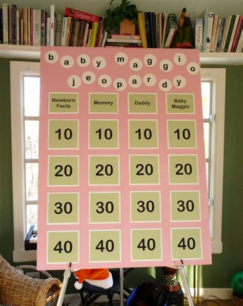 Baby Shower Jeopardy by Baby Shower Ideas To Share