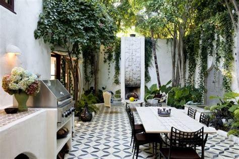 commune design commune design los feliz home courtyard mosaic tile outdoor living dining property