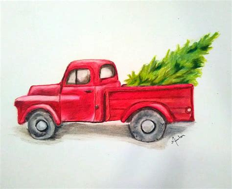 red christmas vintage pick ups for sale items similar to finding the right tree vintage truck truck tree on etsy