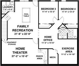 Basement Floor Plans The Creekstone 1123 2 Bedrooms And 2 Baths The House Designers