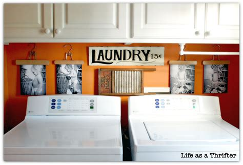 How To Decorate Your Laundry Room As A Thrifter Diy Laundry Room Display