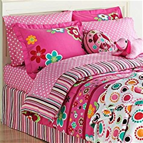 bright pink comforter com bright pink girls flowers twin comforter