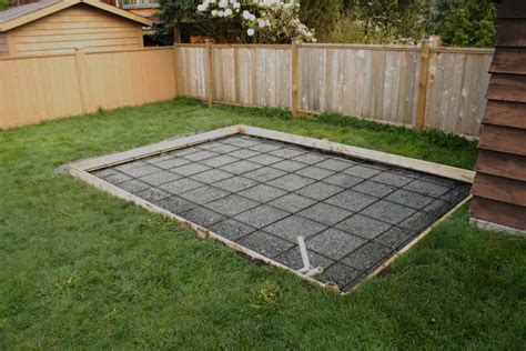 How Thick Concrete Slab For Shed by Coquitlam Shed Slab Coastal Concrete