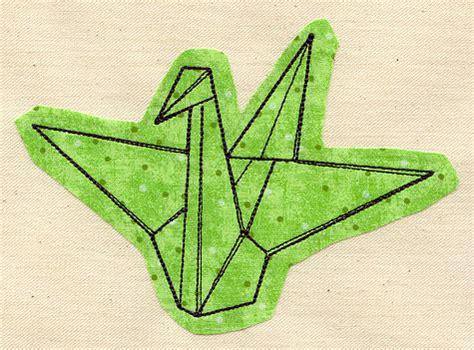 Origami Crane Designs - paper crane applique threads unique and awesome