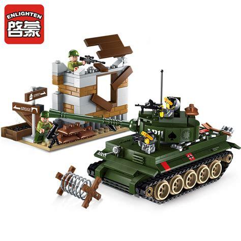 Gear Set Tiger 1 enlighten city war tiger tank counterattack exercises building blocks sets bricks model