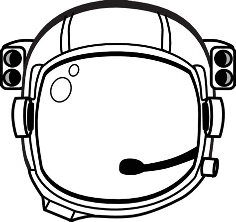 Astronaut Hat Coloring Page | astronaut s helmet clip art at clker com vector clip art