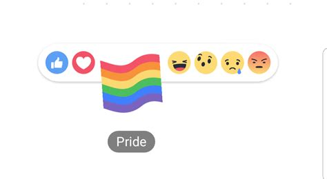 fb reacts how to get the pride flag reaction on facebook android