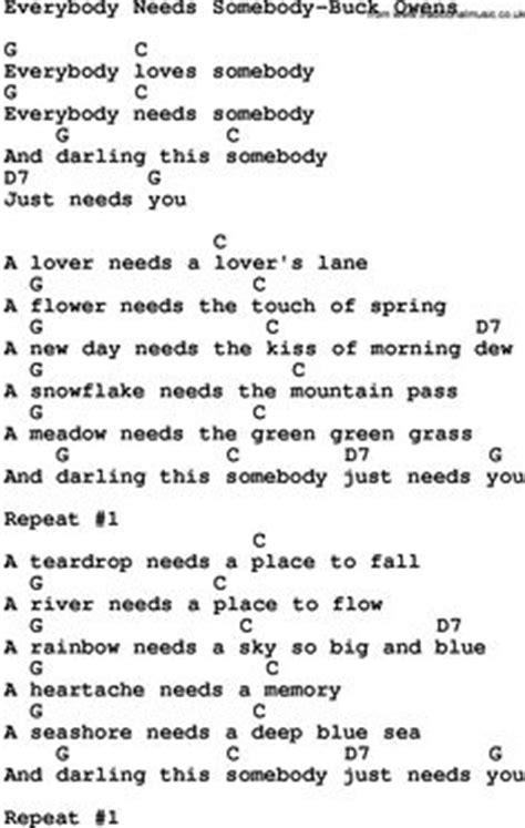 everybody needs somebody to testo song lyrics songs and lyrics on