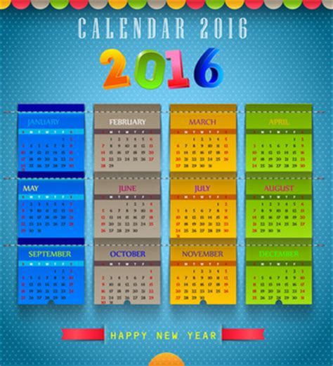Calendar Monthly Template Illustrator 2018 Calendar Template Free Vector Free Vector