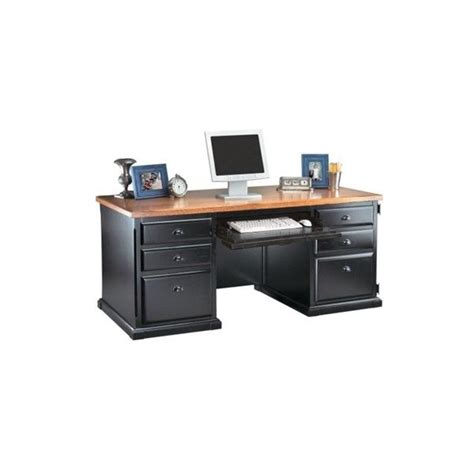 distressed black and oak computer desk 1 179 liked on