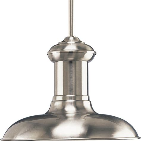 Nickel Pendant Light Westinghouse 1 Light Brushed Nickel Adjustable Mini Pendant With Perforated Metal Shade 6101300