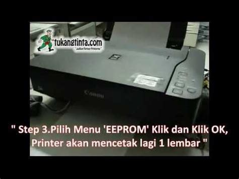 cara reset memori printer canon ip2770 youtube cara reset memori printer canon mp237 youtube